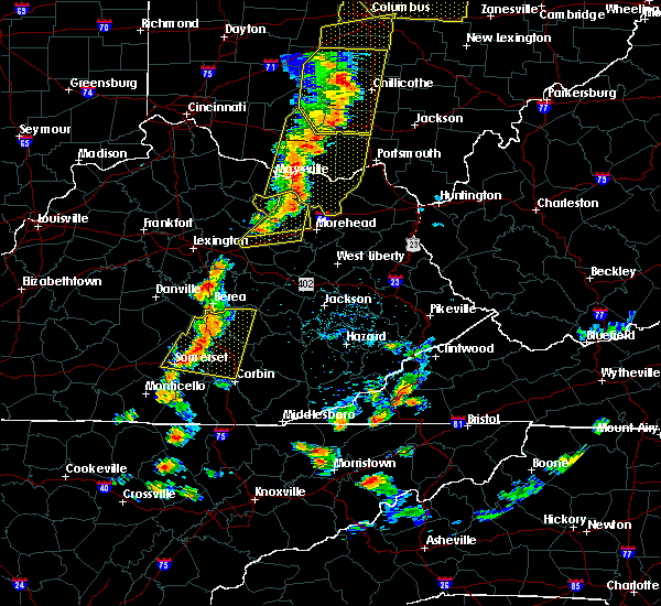 Radar Image for Severe Thunderstorms near Richmond, KY at 6/10/2020 6:21 PM EDT