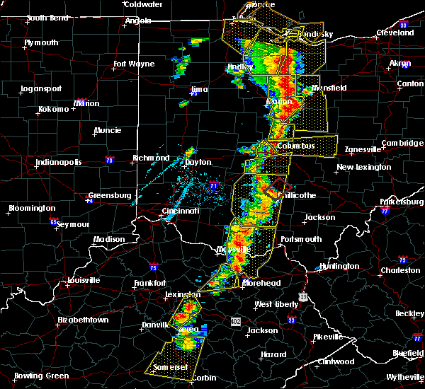 Radar Image for Severe Thunderstorms near Bentonville, OH at 6/10/2020 6:29 PM EDT