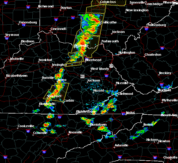 Radar Image for Severe Thunderstorms near McKee, KY at 6/10/2020 6:34 PM EDT