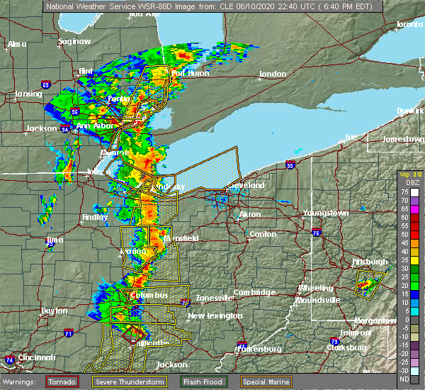 Radar Image for Severe Thunderstorms near Mount Gilead, OH at 6/10/2020 6:43 PM EDT