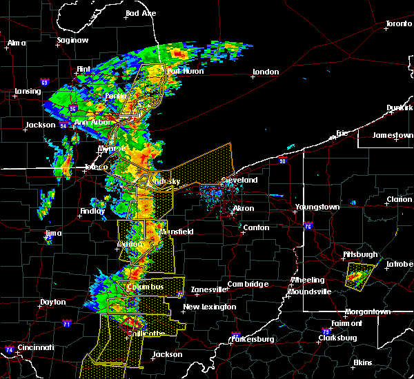 Radar Image for Severe Thunderstorms near Monroeville, OH at 6/10/2020 6:42 PM EDT