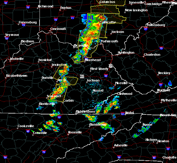 Radar Image for Severe Thunderstorms near McKee, KY at 6/10/2020 6:44 PM EDT