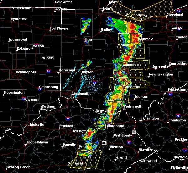 Radar Image for Severe Thunderstorms near Minerva Park, OH at 6/10/2020 6:48 PM EDT