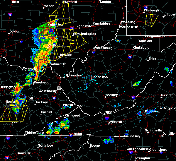Radar Image for Severe Thunderstorms near West Portsmouth, OH at 6/10/2020 6:50 PM EDT