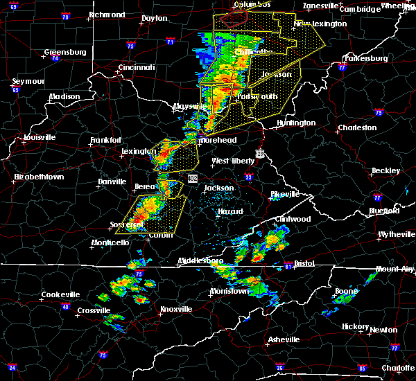 Radar Image for Severe Thunderstorms near McKee, KY at 6/10/2020 6:54 PM EDT