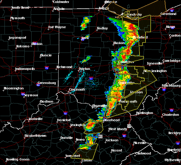 Radar Image for Severe Thunderstorms near Pickerington, OH at 6/10/2020 6:58 PM EDT