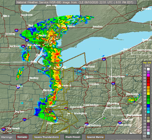Radar Image for Severe Thunderstorms near Vermilion, OH at 6/10/2020 7:02 PM EDT