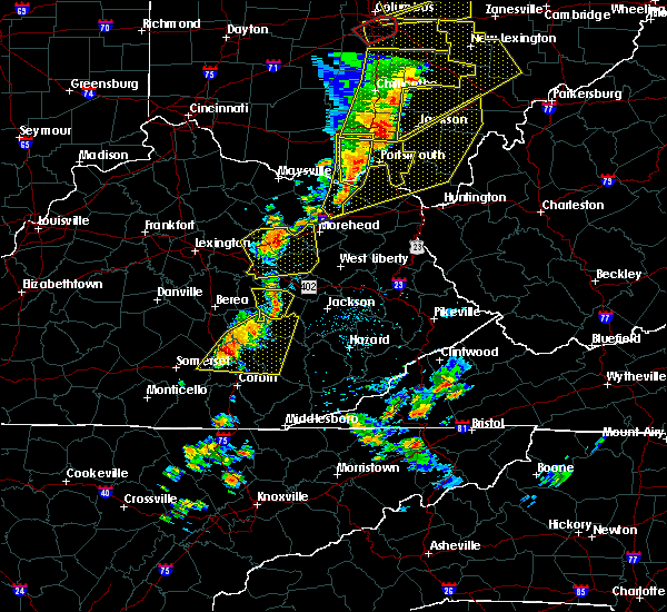 Radar Image for Severe Thunderstorms near Booneville, KY at 6/10/2020 7:03 PM EDT