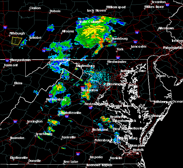 Radar Image for Severe Thunderstorms near Oak Grove, VA at 6/10/2020 7:05 PM EDT