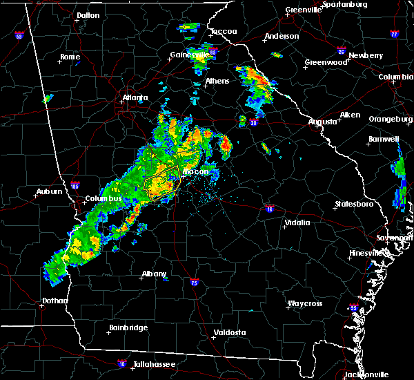 Radar Image for Severe Thunderstorms near Macon, GA at 6/10/2020 7:10 PM EDT