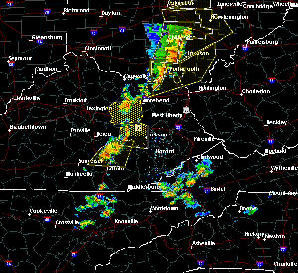 Radar Image for Severe Thunderstorms near McKee, KY at 6/10/2020 7:09 PM EDT