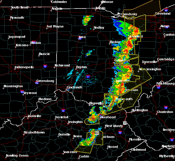 Radar Image for Severe Thunderstorms near Pickerington, OH at 6/10/2020 7:13 PM EDT