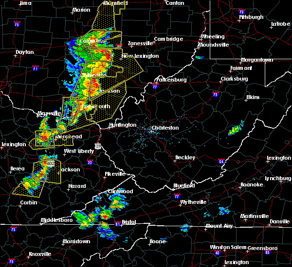 Radar Image for Severe Thunderstorms near Greenup, KY at 6/10/2020 7:14 PM EDT