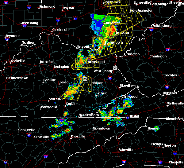 Radar Image for Severe Thunderstorms near Booneville, KY at 6/10/2020 7:15 PM EDT