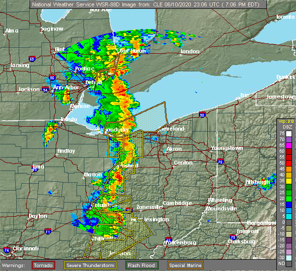 Radar Image for Severe Thunderstorms near Westfield Center, OH at 6/10/2020 7:17 PM EDT