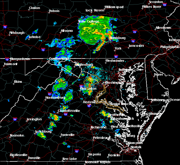 Radar Image for Severe Thunderstorms near Oak Grove, VA at 6/10/2020 7:19 PM EDT