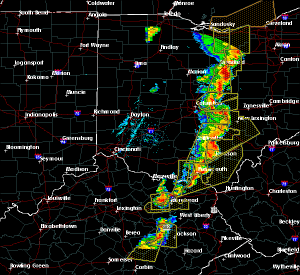 Radar Image for Severe Thunderstorms near Pataskala, OH at 6/10/2020 7:19 PM EDT
