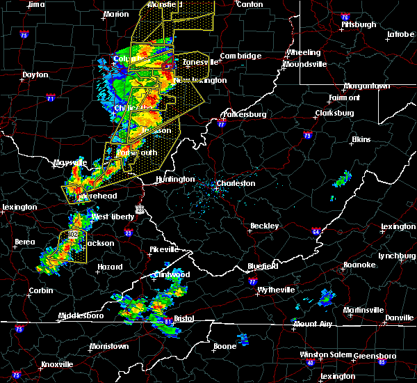 Radar Image for Severe Thunderstorms near Portsmouth, OH at 6/10/2020 7:31 PM EDT