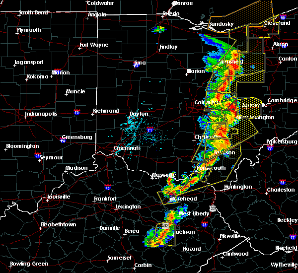 Radar Image for Severe Thunderstorms near Buckeye Lake, OH at 6/10/2020 7:34 PM EDT