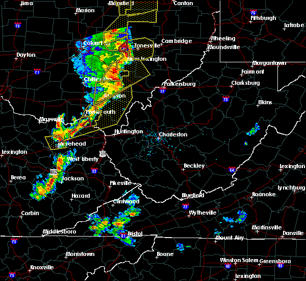 Radar Image for Severe Thunderstorms near Greenup, KY at 6/10/2020 7:39 PM EDT