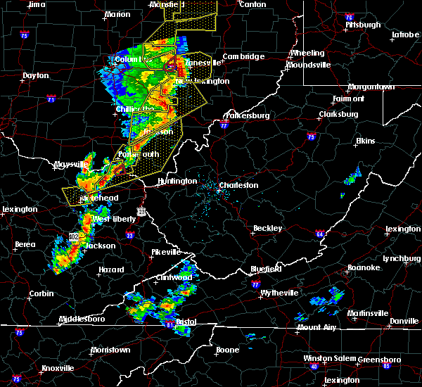 Radar Image for Severe Thunderstorms near Greenup, KY at 6/10/2020 7:40 PM EDT