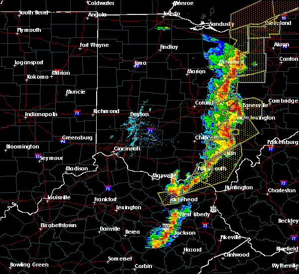 Radar Image for Severe Thunderstorms near Brownsville, OH at 6/10/2020 7:43 PM EDT