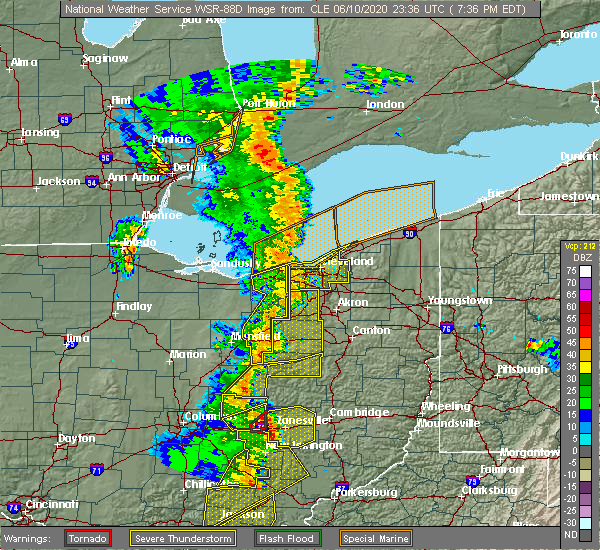 Radar Image for Severe Thunderstorms near Trinway, OH at 6/10/2020 7:44 PM EDT
