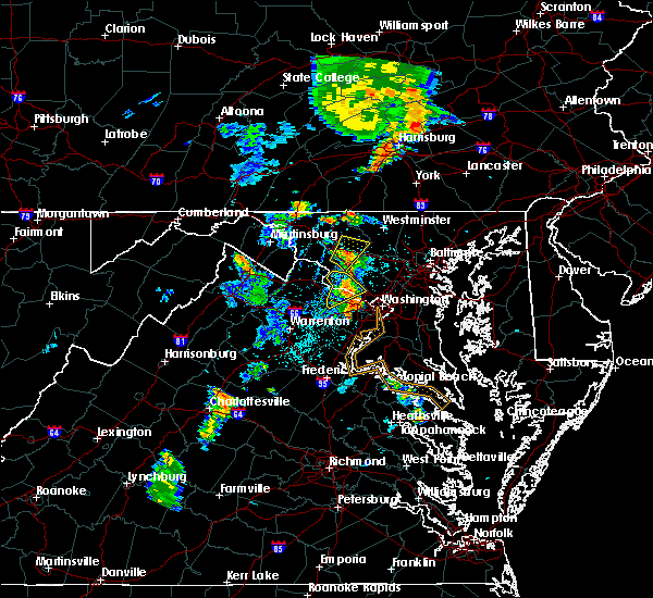 Radar Image for Severe Thunderstorms near Oak Grove, VA at 6/10/2020 7:44 PM EDT