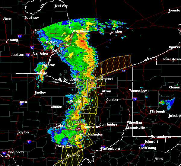 Radar Image for Severe Thunderstorms near Perrysville, OH at 6/10/2020 7:46 PM EDT