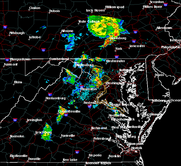 Radar Image for Severe Thunderstorms near Walkersville, MD at 6/10/2020 7:52 PM EDT