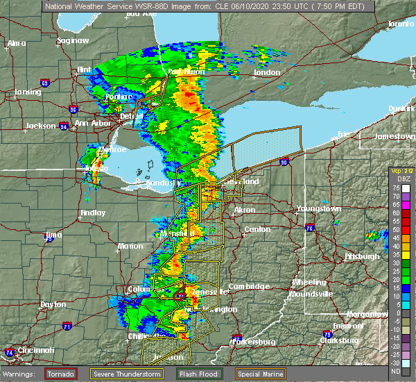 Radar Image for Severe Thunderstorms near Westfield Center, OH at 6/10/2020 7:52 PM EDT