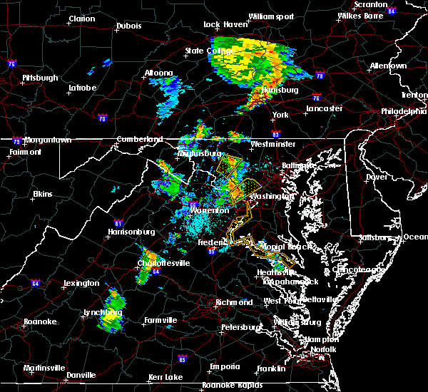 Radar Image for Severe Thunderstorms near Walkersville, MD at 6/10/2020 7:54 PM EDT