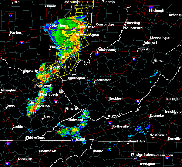 Radar Image for Severe Thunderstorms near Greenup, KY at 6/10/2020 7:55 PM EDT