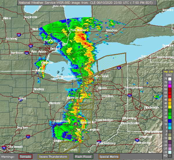 Radar Image for Severe Thunderstorms near Mayfield, OH at 6/10/2020 7:57 PM EDT