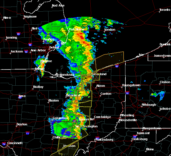 Radar Image for Severe Thunderstorms near Aquilla, OH at 6/10/2020 7:58 PM EDT