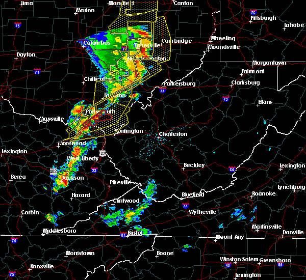 Radar Image for Severe Thunderstorms near West Portsmouth, OH at 6/10/2020 8:05 PM EDT
