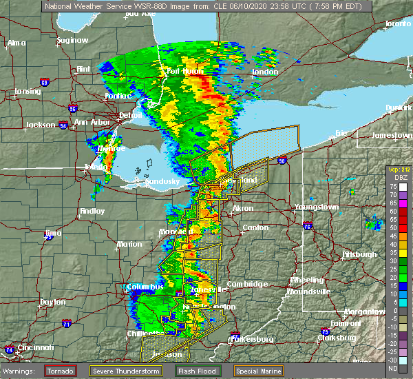 Radar Image for Severe Thunderstorms near Walnut Creek, OH at 6/10/2020 8:04 PM EDT