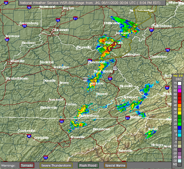 Radar Image for Severe Thunderstorms near Lavalette, WV at 6/10/2020 8:08 PM EDT