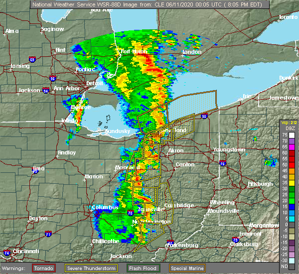 Radar Image for Severe Thunderstorms near Perrysville, OH at 6/10/2020 8:09 PM EDT