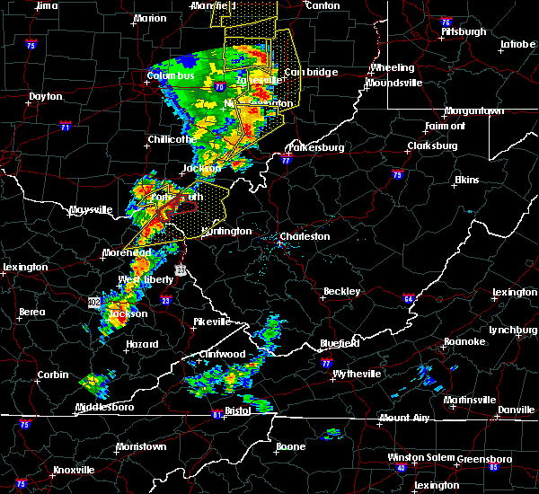 Radar Image for Severe Thunderstorms near Stewart, OH at 6/10/2020 8:11 PM EDT