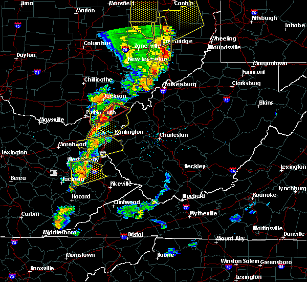 Radar Image for Severe Thunderstorms near Greenup, KY at 6/10/2020 8:27 PM EDT