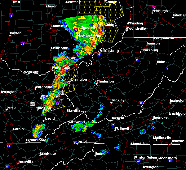 Radar Image for Severe Thunderstorms near Lavalette, WV at 6/10/2020 8:32 PM EDT