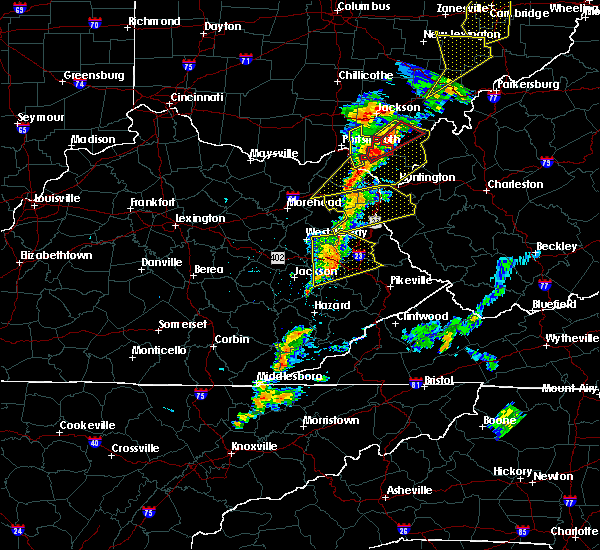 Radar Image for Severe Thunderstorms near Prestonsburg, KY at 6/10/2020 8:34 PM EDT