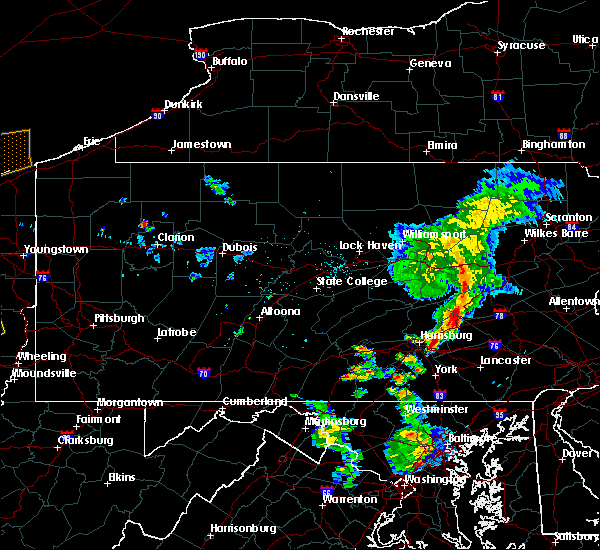 Radar Image for Severe Thunderstorms near Skyline View, PA at 6/10/2020 8:33 PM EDT