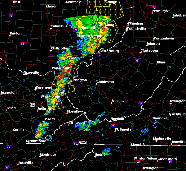 Radar Image for Severe Thunderstorms near Worthington, OH at 6/10/2020 8:38 PM EDT