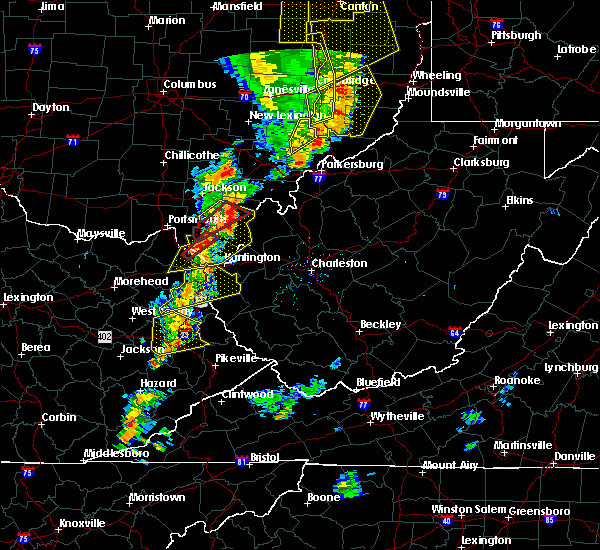 Radar Image for Severe Thunderstorms near Rutland, OH at 6/10/2020 8:46 PM EDT