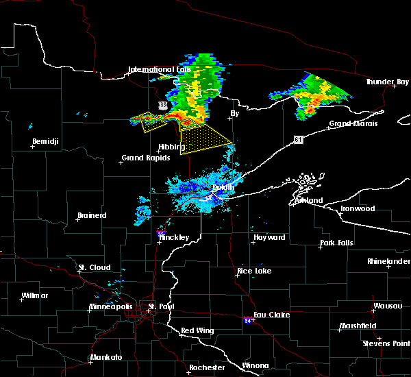 Radar Image for Severe Thunderstorms near Aurora, MN at 6/29/2015 9:12 AM CDT