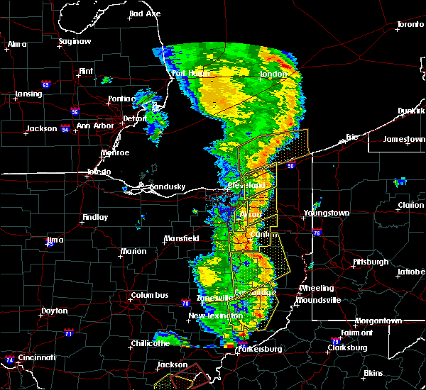 Radar Image for Severe Thunderstorms near South Canal, OH at 6/10/2020 8:55 PM EDT