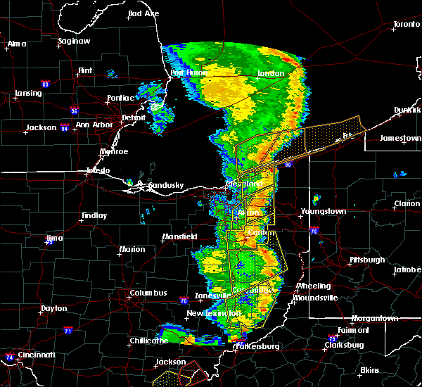 Radar Image for Severe Thunderstorms near South Canal, OH at 6/10/2020 9:02 PM EDT