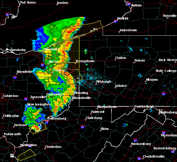 Radar Image for Severe Thunderstorms near Washingtonville, OH at 6/10/2020 9:21 PM EDT